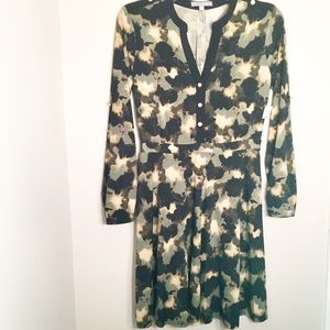 NEW ny collection olive green, tan & black dress